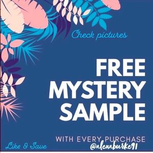 FREE MYSTERY BEAUTY SAMPLE WITH ANY PURCHASE